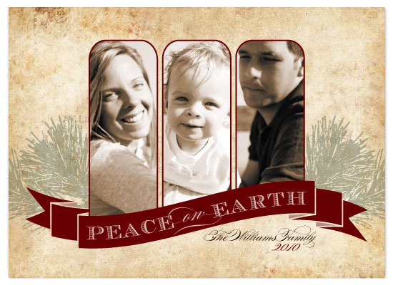 holiday photo cards - Treasured Cheer by Three Kisses Studio