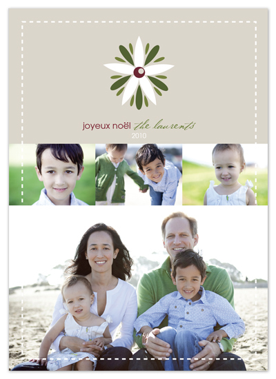 holiday photo cards - Joyeux Noel by Noah and Olivia