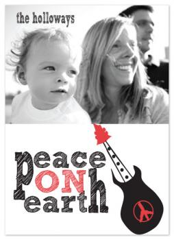 Rockin Peace Holiday Photo Cards