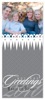 Frosty Peaks Holiday Photo Cards