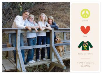 Peace Love Tacky Holiday Photo Cards