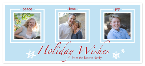 holiday photo cards - Holiday Wishes by Laura Hancko