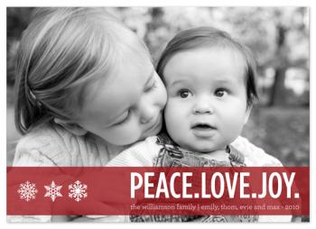peaceful snowflakes Holiday Photo Cards