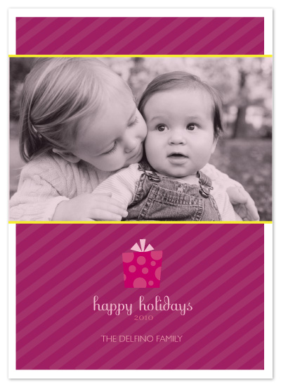 holiday photo cards - sugarplums by Katie Leggitt