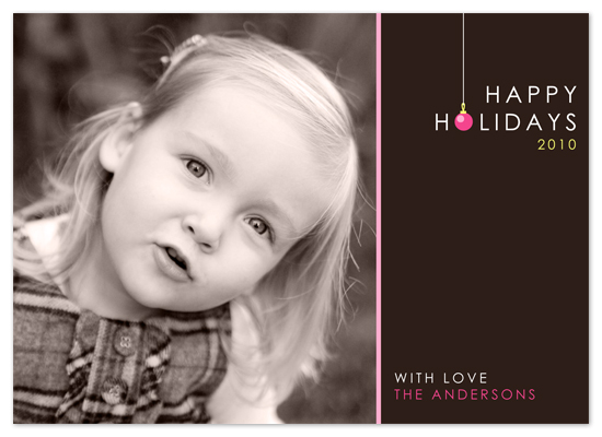 holiday photo cards - Holiday Bauble by Spinsugar