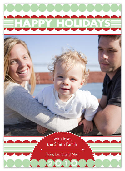 holiday photo cards - Holiday Stripes and Dots by Laura Hancko
