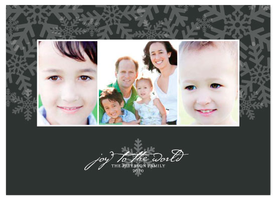 holiday photo cards - Snow Flurries by Three Kisses Studio