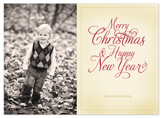 holiday photo cards - A Classic Christmas by Push Papers