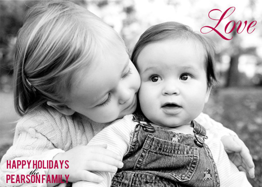 holiday photo cards - Love & Kisses by Simply Paige