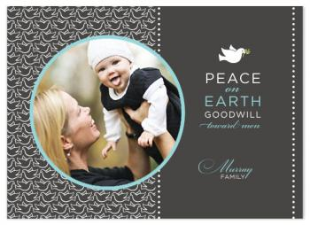 Repeating Doves Holiday Photo Cards