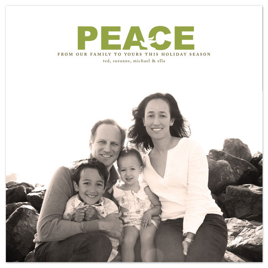 holiday photo cards - Peaceful Wishes by Jennifer Postorino