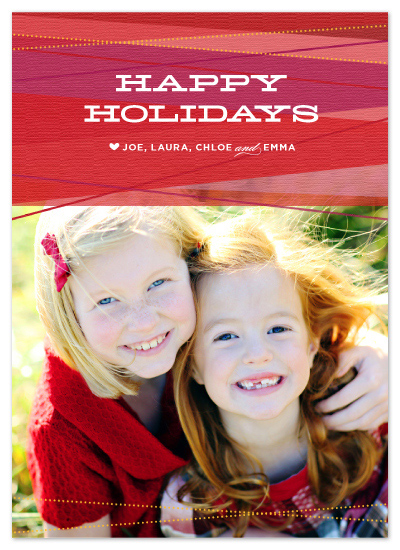 holiday photo cards - Ruby Ribbons by Carrie ONeal