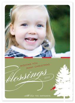 serenity Holiday Photo Cards