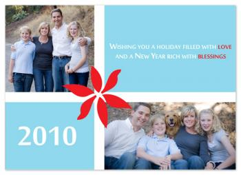 Love Blessing Holiday Photo Cards