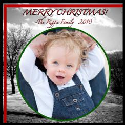 black and white Holiday Photo Cards