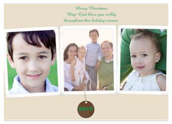Richly Bless Holiday Photo Cards