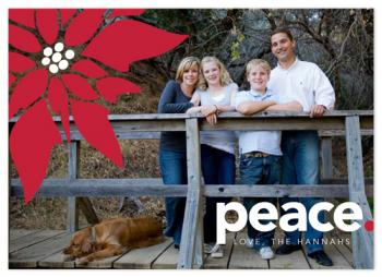 Peaceful Poinsetta Holiday Photo Cards
