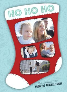 Stitched Holiday Photo Cards