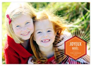 Noel Badge Holiday Photo Cards