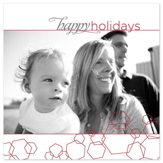 holiday photo cards - Holiday Hexagons by Bekka Palmer