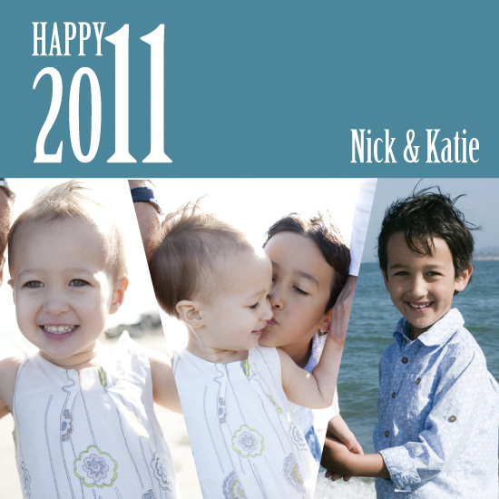 holiday photo cards - Happy 2011 by Kelly Solheim