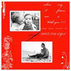 your my flower Holiday Photo Cards
