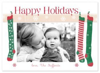 Holiday Stockings Holiday Photo Cards