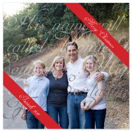 holiday photo cards - Isaiah 9:6 by Caitlin Afton