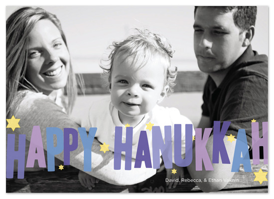 holiday photo cards - Hip Hanukkah by Paper Plains