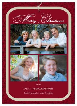 Gift Christmas Tag Holiday Photo Cards