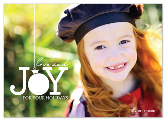 holiday photo cards - ball of joy by stacey day