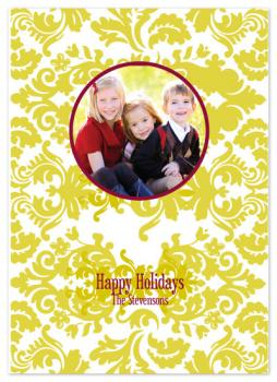 Holiday Damask Holiday Photo Cards