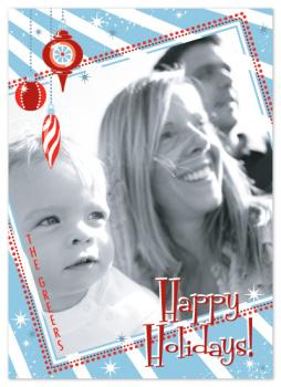 Retro Sparkle Holiday Photo Cards