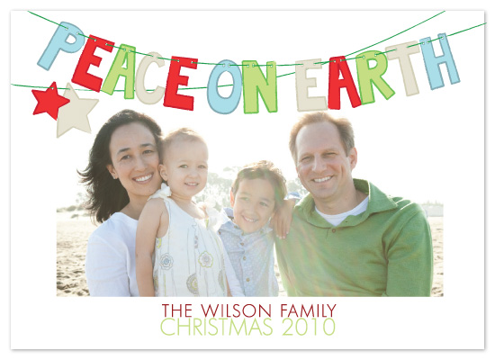 holiday photo cards - Sign of Peace by Peach Blossom Paperie