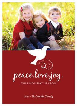 Peace.Love.Joy. Holiday Photo Cards