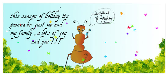 holiday photo cards - anty says its my holiday by Pranshu Kumar Chaudhary