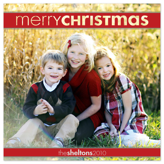 holiday photo cards - Christmas Cutout by Laura Hancko
