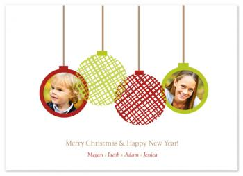 Picture Ornaments Holiday Photo Cards