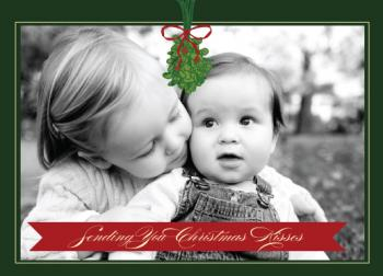 Christmas Kisses Holiday Photo Cards