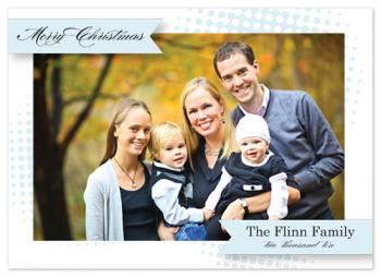 Winter Blue Holiday Photo Cards