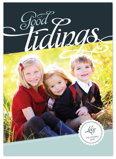holiday photo cards - lovely tidings by stacey day