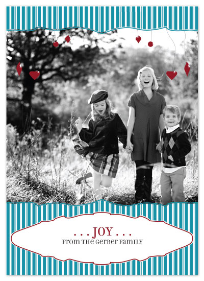 holiday photo cards - ornaments and stripes by Napkin Rings and Elephant Ears
