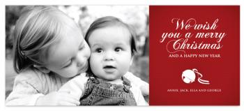 Sleigh Bell Holiday Photo Cards