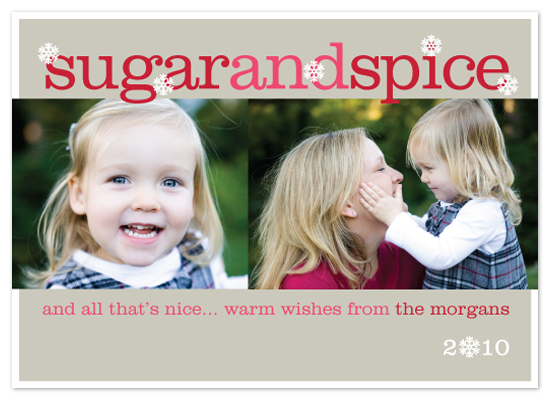 holiday photo cards - Sugar and Spice by Sarah Jane