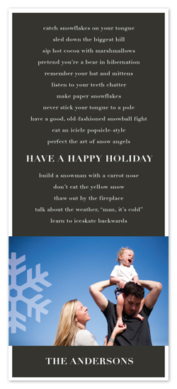 holiday photo cards - Cold Weather To-Do List by Sarah Jane