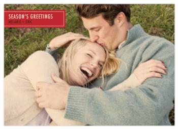 Retro Rectangle Holiday Photo Cards