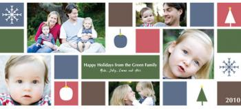 Happy Holidays Grid Photo Card