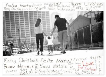 Holiday Grafitti Holiday Photo Cards