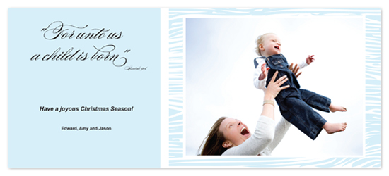 holiday photo cards - For Unto Us A Child is Born by Laurel Goodroe