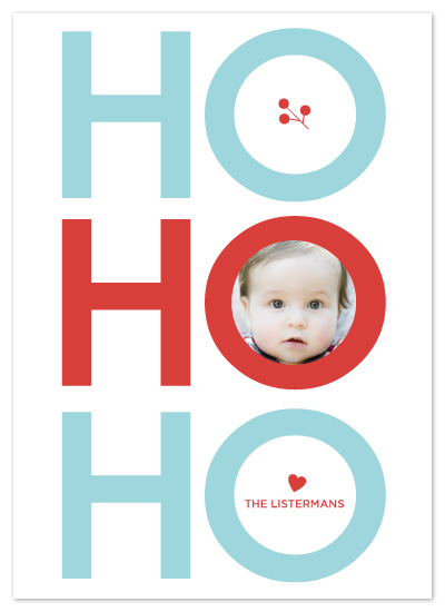 holiday photo cards - Ho Ho Ho by chica design